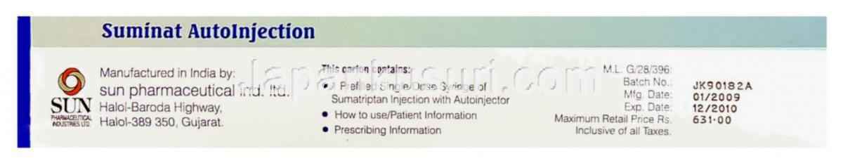 Suminat 25 mg tabletta